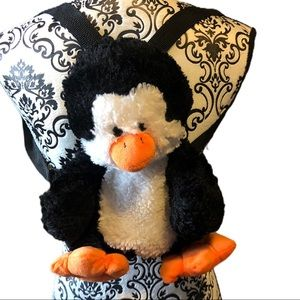 Penguin backpack. Plush. Packmates.